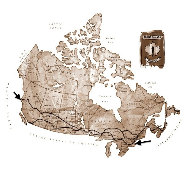 The Trans Canada Highway, designed by Priscilla Li (Source)