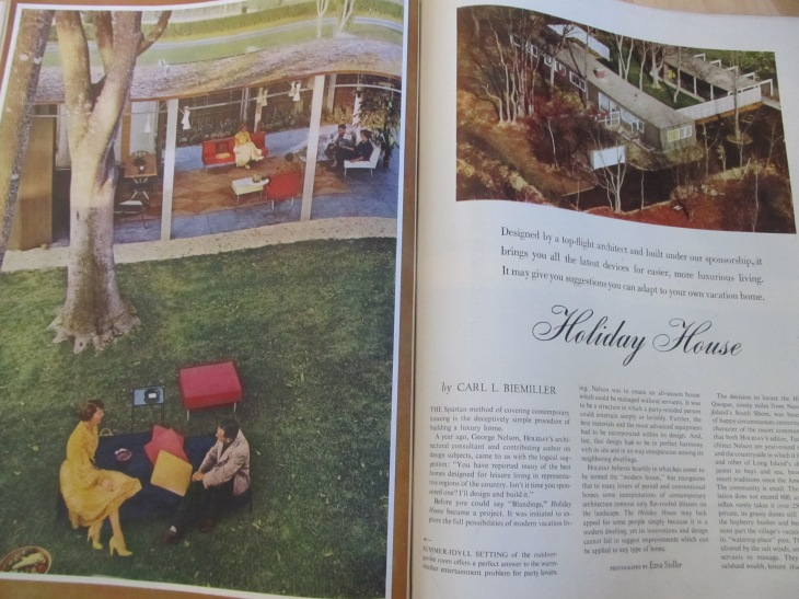 Holiday house, from HOLIDAY magazine May 1951