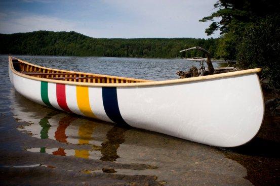 Langford HBC striped canoe 001