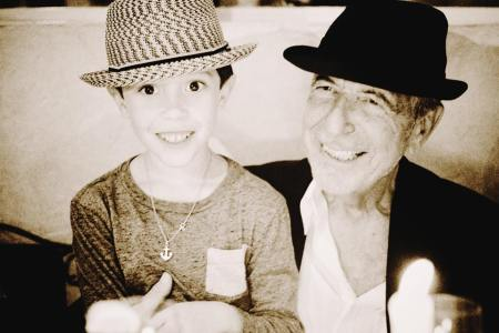 2 of the 3 cohen boys. one is almost 8. the other almost 80. both have always looked better in hats than me.